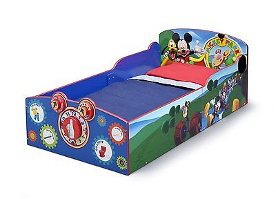 Delta Children Interactive Wood Toddler Bed, Disney Mickey Mouse,BB86929MM