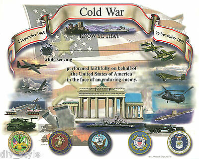 Cold War Certificate blank unused mint condition US Naval Institute