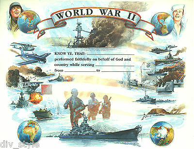 World War II Certificate blank unused mint condition US Naval Institute