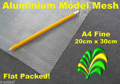 A4 Sheet of Fine Aluminium Wire Mesh - Flat Packed 20 x 30 cm