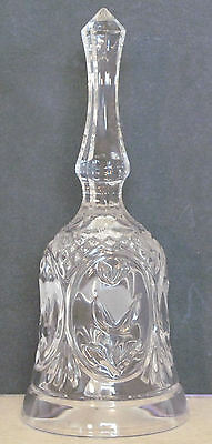 Crystal glass bell. 19 cm high, 8 cm across rim. perfect condition