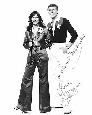 The Carpenters Autograph Signed Photo Preprint Glossy Music Portrait
