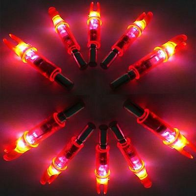 10X Automatically Lighted Arrow Nock Glowing Arrows Hunting Compound Bow Target