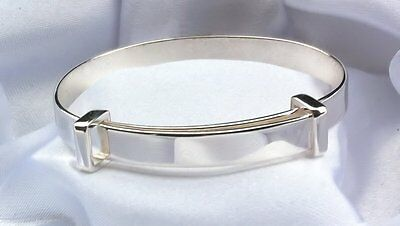 4 Sizes Baby Childs Quality Handmade Polished Sterling Silver Bangle Christening