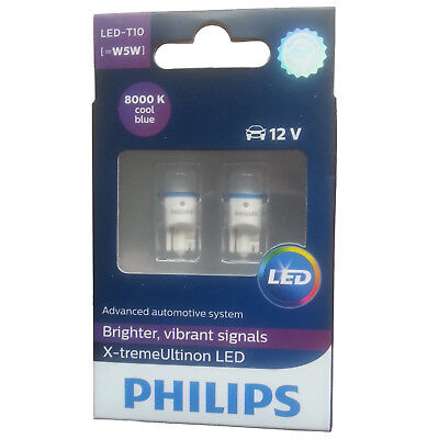 Philips Xtreme Vision 360 Led T10 501 W5W Car Bulbs 8000K