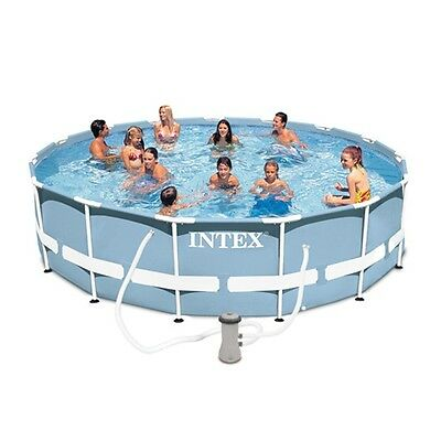 Intex 12ft X 30in PRISM FRAME Swimming Pool  With Pump - NEW FOR 2017