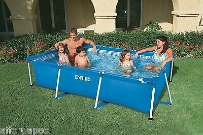 Intex Rectangular 2.2m x 1.5m x 0.60m Metal Frame Swimming Pool    #28270