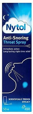 Nytol Anti Snoring Throat Spray - Immediate Action - 50Ml - Free Delivery