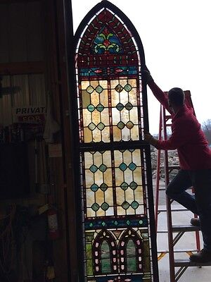 Jt 18 Antique 11 Foot Tall Victorian Double Hung Landing Window