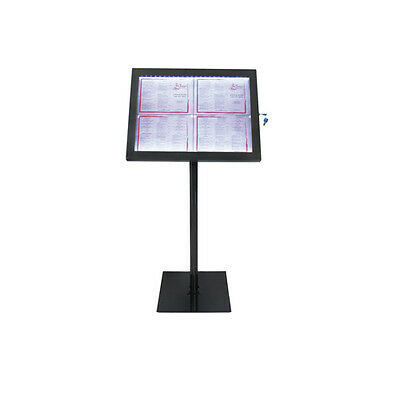 Securit expositor led con base y pie 4 x A4 paginas 144x50 m