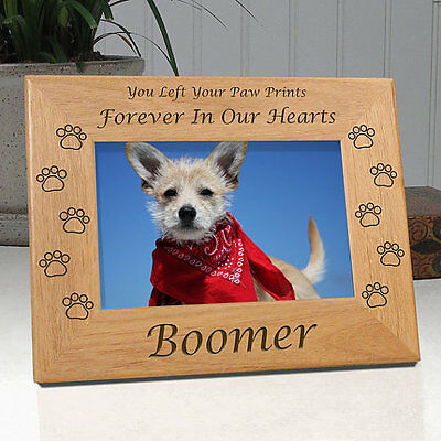 Personalized Dog Memorial Frame You Left Your Paw Prints Forever