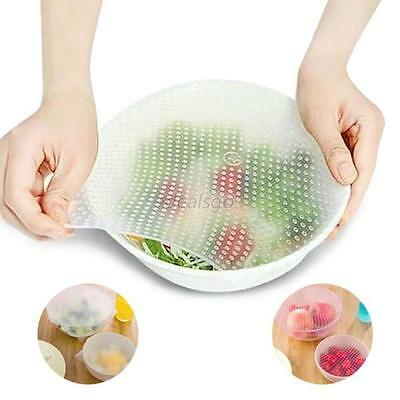 Multi-functional Silicone Wraps Seal Cover Stretch Cling Film Food Fresh Keep