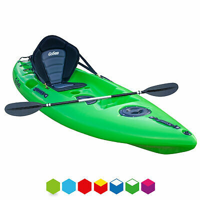 GoSea Sit On Top Kayak Beginners Entry Level Single Canoe Hatches Child Adult