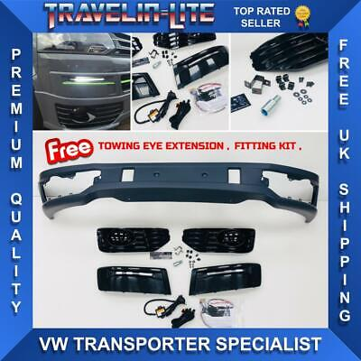 For VW T5 Transporter Sportline Lower Spoiler & DRL Kit PU Plastic