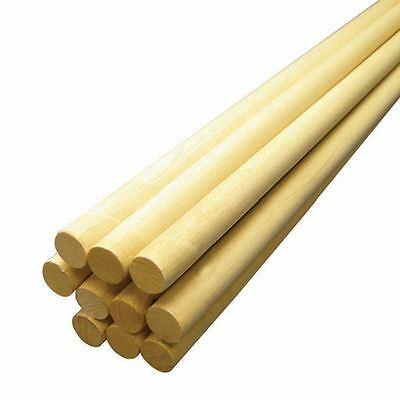 Hardwood Dowel 5/8 x 36 Inches Wooden Support Stick To Cut Paint School Projects
