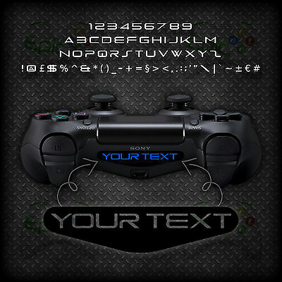 2x Playstation PS4 Controller Light Bar Personalised Custom Vinyl Decal Sticker
