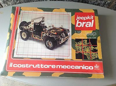 Vintage# 80'S Bral Jeep Kit Us Jeep 1:20 Factory Sealed Costruttore Meccanico