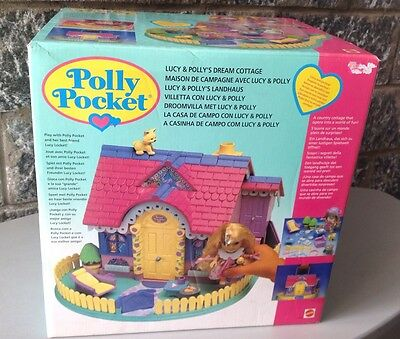 1992# Mattel Polly Pocket - Lucy And Polly's Dream Cottage #NRFB NIB Sealed Box