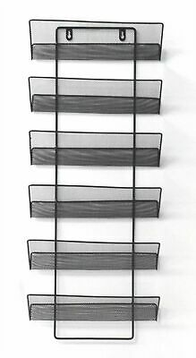 Mesh wall literature holder magazine hanging file Black- HOME/ OFFICE ORGANIZER