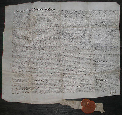 1556 Queen Mary Philip Of Spain Vellum Document Strelly Langton Leicestershire