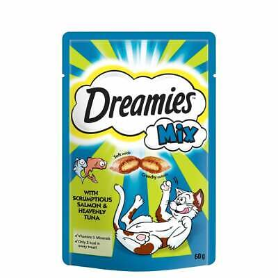 Dreamies Cat Treats 60g Mixed Flavours Salmon & Tuna