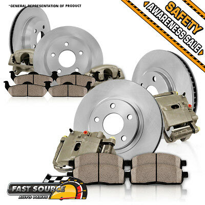 Front and Rear OE Brake Calipers & Rotors & Pads 2000 - 2004 EXCURSION F250 F350