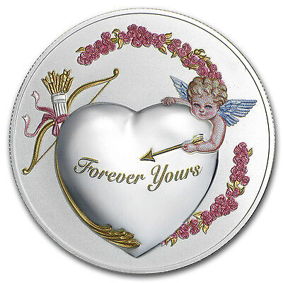 "2016 Niue 1 oz Silver ""Forever Yours"" Coin Prooflike (PAMP) - SKU #95741"