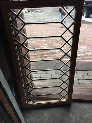 Sg 625 Antique Beveled Glass Window With New Frame