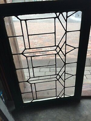 Sg 628 Antique Leaded Glass Transom Window