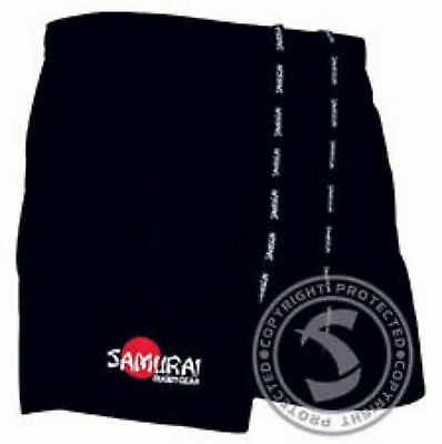 Samurai Professional Rugby Short, Black, Navy or White, Mens and Boys all sizes