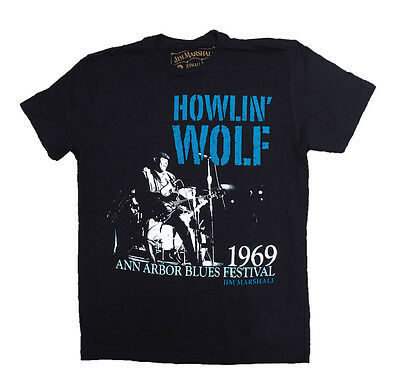 Howlin' Wolf T Shirt Center Stage Ann Arbor Blues 1969 Jim Marshall Photo