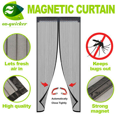 Fly Screen Mosquito Bug Door Magic Magna Mesh Magnetic Curtain 4 types available
