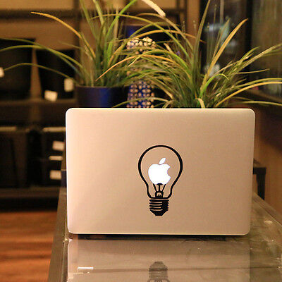 1X Bulb Vinyl Decal Sticker Skin for Laptop MacBook Air/Pro 11 12 13 15 17inch