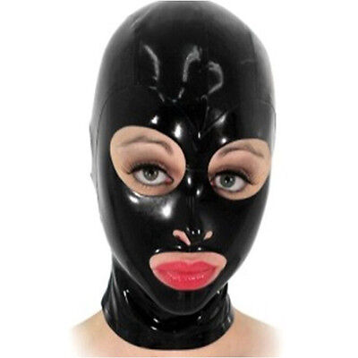 New Latex Rubber Hood Open Eyes Mouth And Nostril Party Wear Hot Club Mask