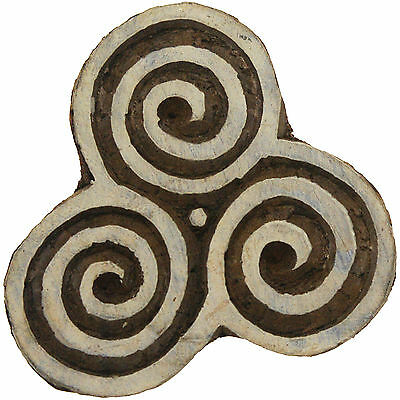 Wood Stamp celtic Pattern Triangle Wood block Motif stamp hand carved