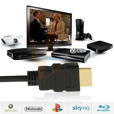 1M HDMI Cable V1.4 3D High Speed with Ethernet HEC Full HD 1080p Gold Plated