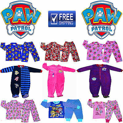 New Sz 1-6 Kids Winter Pyjamas Paw Patrol Boys Girls Sleepwear Cotton Flannel