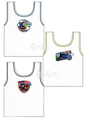 Kids Character Vests 100% Cotton Vest, Boys Girls Ages 18-24 Months , 2-8 Years