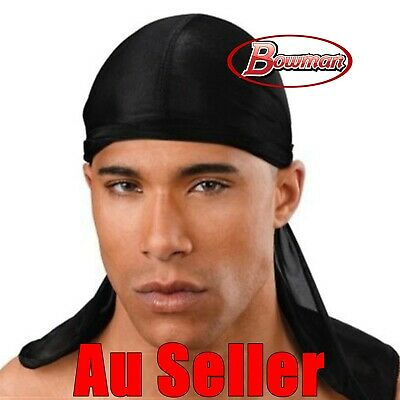 New Black Durags Du Rag Cap Doo Rag Skully Pirate Head Wrap Costume Party