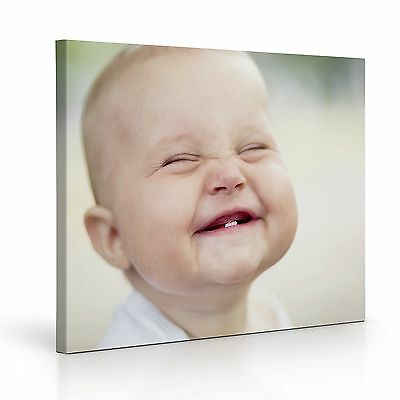 """Personalised A1 LARGE 20x30"""" CANVAS Print, Your PHOTO/PICTURE 18mm Frame, 260gsm"""