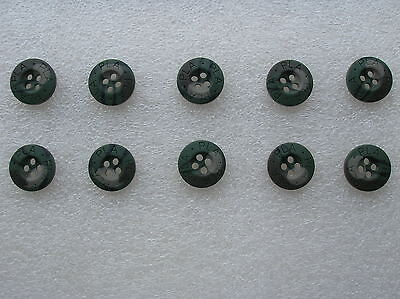 07's series China PLA Army Woodland Camouflage Resin Buttons,10 Pcs,15mm