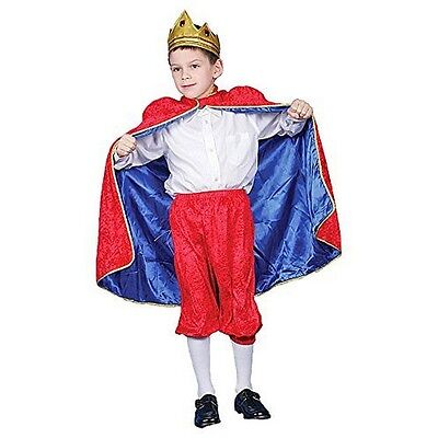 Deluxe Royal King Dress Up Costume Set - Red - Large 12-14