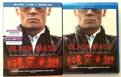 Black Mass Blu Ray 1 Disc Only + Slipcover Sleeve Free Shipping World Wide Buyit