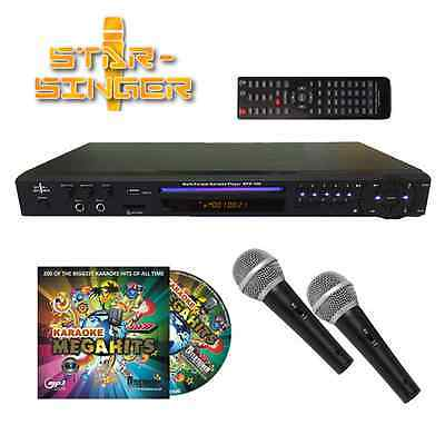 Starsinger Play Karaoke Player Package - 2 Mics & 200 Songs