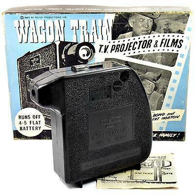 Vintage Wagon Train  Bell Home Cine Toy Projector with Original Box & User Guide