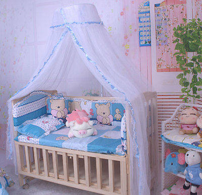 Baby Crib Dome Mosquito Netting Nursery Boys Girls Lace Bed Canopy without Stand