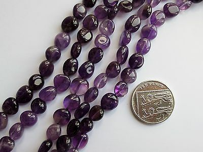 AMETHYST POLISHED GEMSTONE NUGGET BEADS APPROX 7-11mm LONG