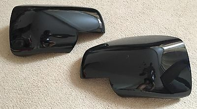 Gloss Black Full Wing Mirror Covers L322 Vogue Discovery 3 Freelander 2 Models