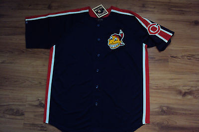 Cleveland Indians New Mlb Majestic Crosstown Rivalry Cooperstown Jersey