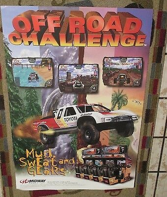 1997 Midway Off Road Challenge  Poster W/flyer